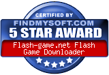 Flash Game Downloader award on FindMysoft.com