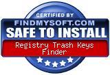 Registry Trash Keys Finder on FindMySoft.com