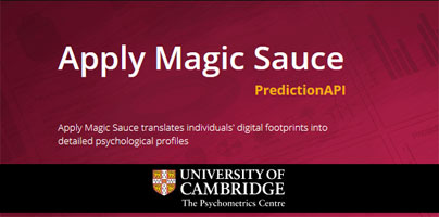 Apply Magic Sauce Predicts Your Big 5 Personality Traits by
