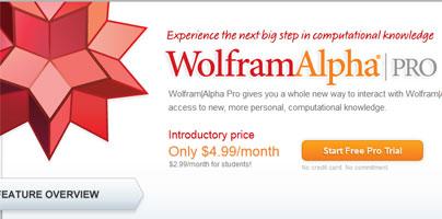free wolfram alpha pro