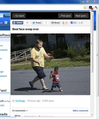 Monitor Hot Posts With 9gag Mini For Chrome