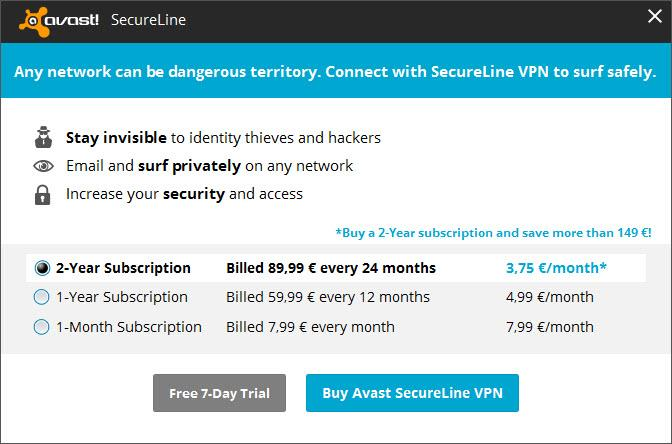 avast premier secureline vpn license file free download