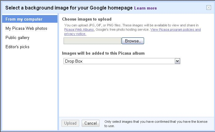how to change the background of gmail