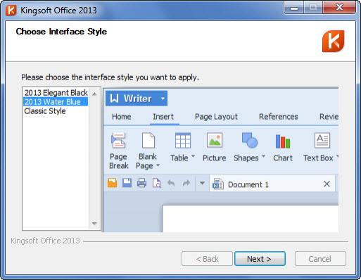 Kingsoft Office 2013: Faster, More Stable, Better Looking