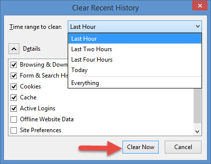 how to clear browsing data in firefox