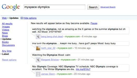 Google Real Time Quotes Api: MySpace Releases Real-Time Search API, Pushes Content To