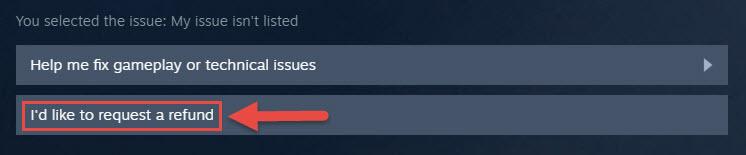how do you refund a gift on steam