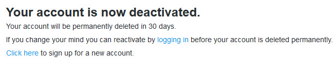 how to delete your twitter account without logging in