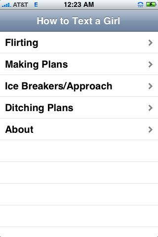 Iphone App How To Text A Girl