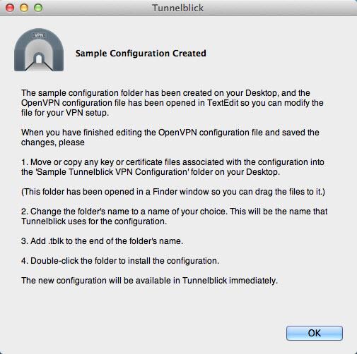 View Tunnelblick(Mac) screenshot