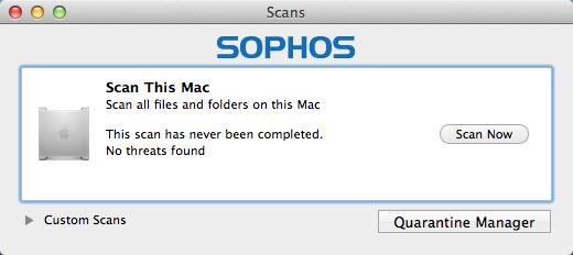 View Sophos Antivirus for Mac Home Edition(Mac) screenshot