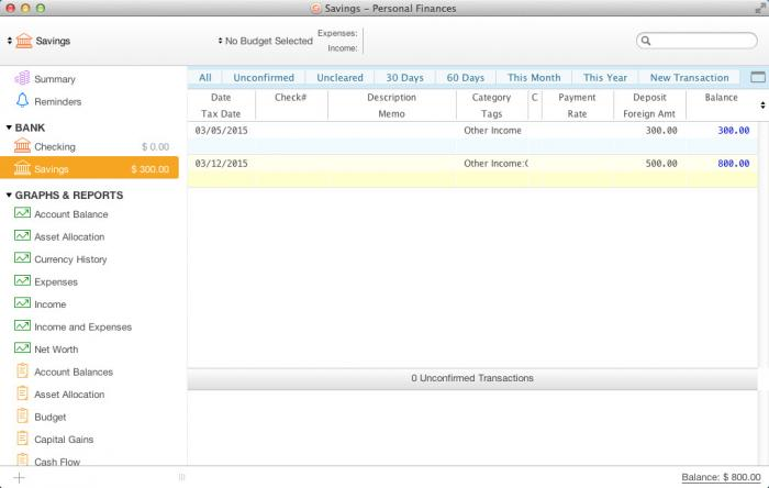 View Moneydance(Mac) screenshot