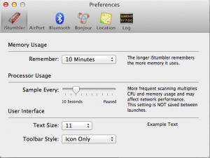 Enlarge iStumbler Screenshot
