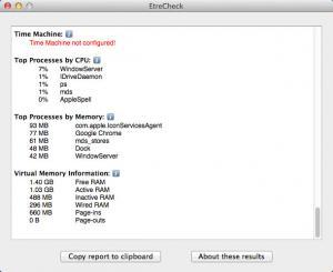 Enlarge EtreCheck Screenshot