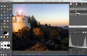 Enlarge GIMP Screenshot