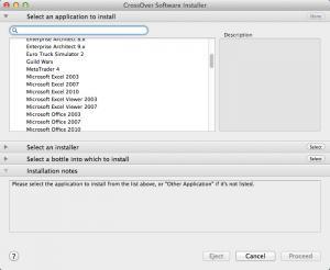 Enlarge CrossOver Screenshot