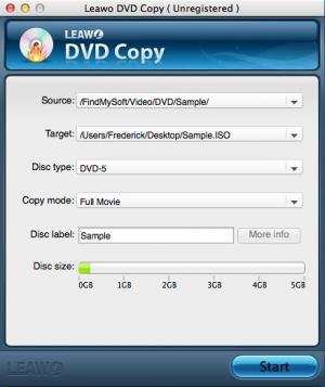 Enlarge Leawo DVD Copy Screenshot