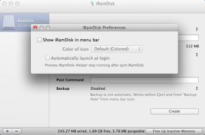 Enlarge iRamDisk Screenshot