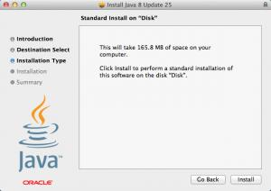 Enlarge Java Runtime Environment Screenshot