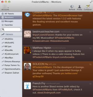 Enlarge Twitterrific Screenshot