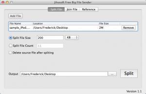 Enlarge Send Big File Screenshot