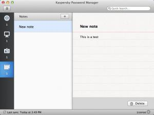 Enlarge Kaspersky Password Manager Screenshot