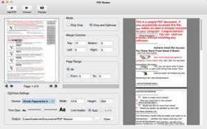 Enlarge PDF Resizer Screenshot