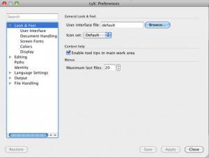 Enlarge LyX Screenshot