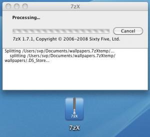 Enlarge 7zX Screenshot