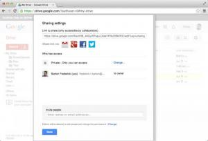 Enlarge Google Drive Screenshot