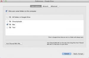 Enlarge Google Drive Screenshot