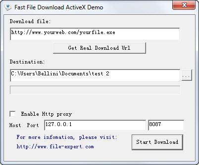 View Fast File Download ActiveX screenshot