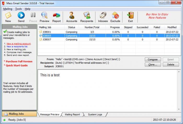 View Mass Email Sender screenshot
