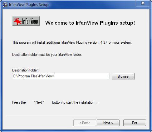 View IrfanView ALL PlugIns screenshot