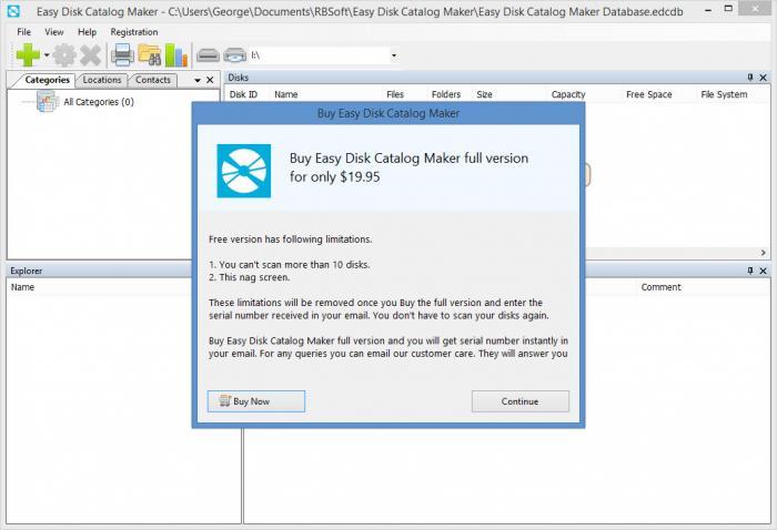 view easy disk catalog maker screenshot