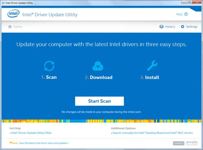 View Intel Driver Update Utility screenshot