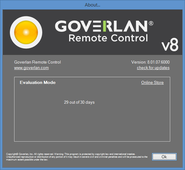 goverlan remote control download