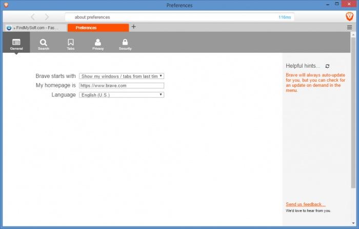 View Brave Browser screenshot