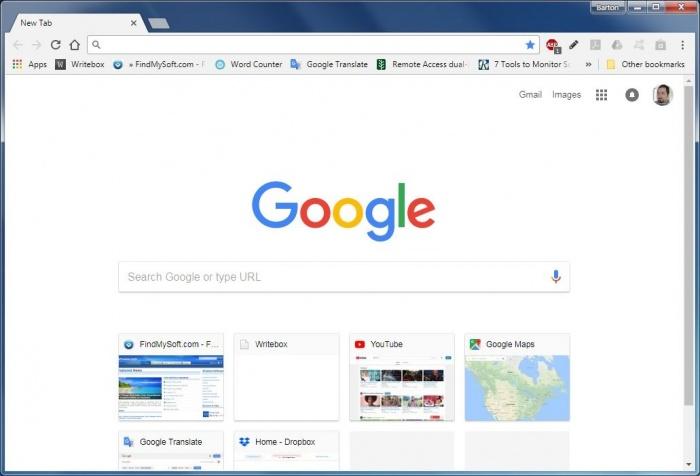 View Google Chrome Canary screenshot