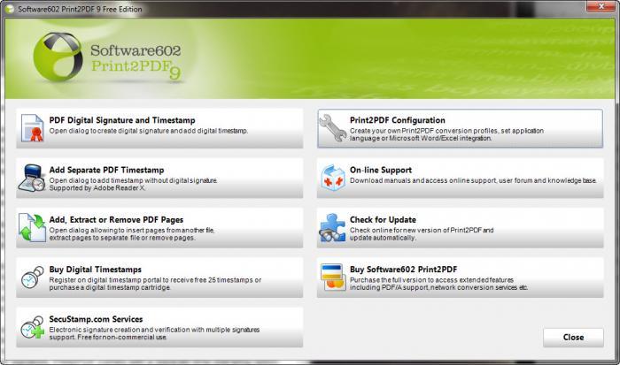 View Print2PDF Free screenshot