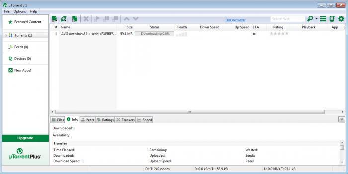View uTorrent screenshot
