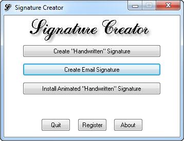 View Signature Creator screenshot