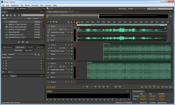 Adobe Audition main window screenshot