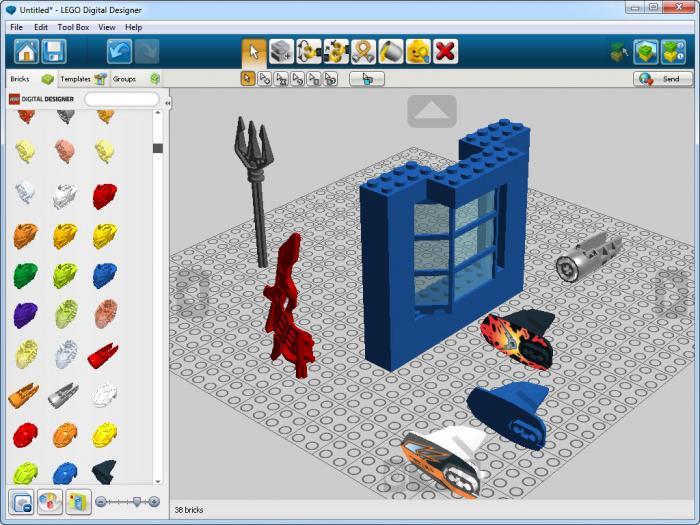 view lego digital designer screenshot. Black Bedroom Furniture Sets. Home Design Ideas