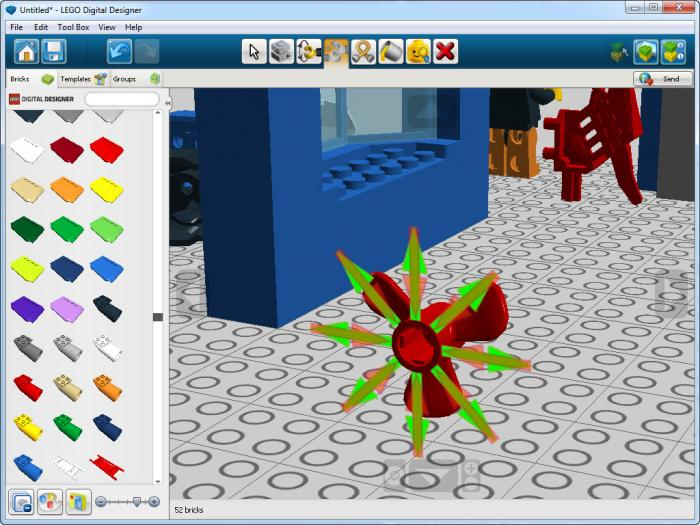 View Lego Digital Designer Screenshot