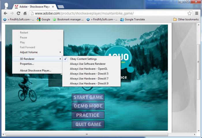 View Adobe Shockwave Player screenshot