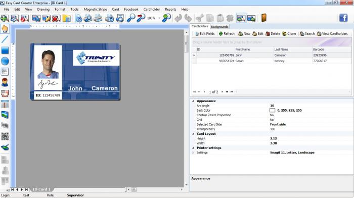 Easy Screenshot Card Enterprise Creator View