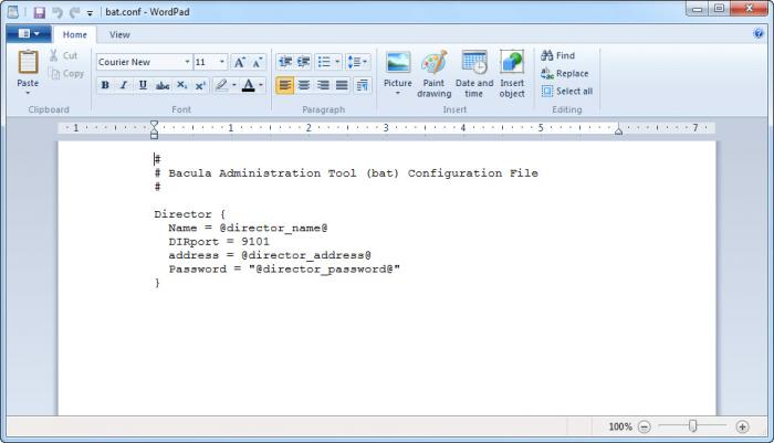 Bacula Administration Tool