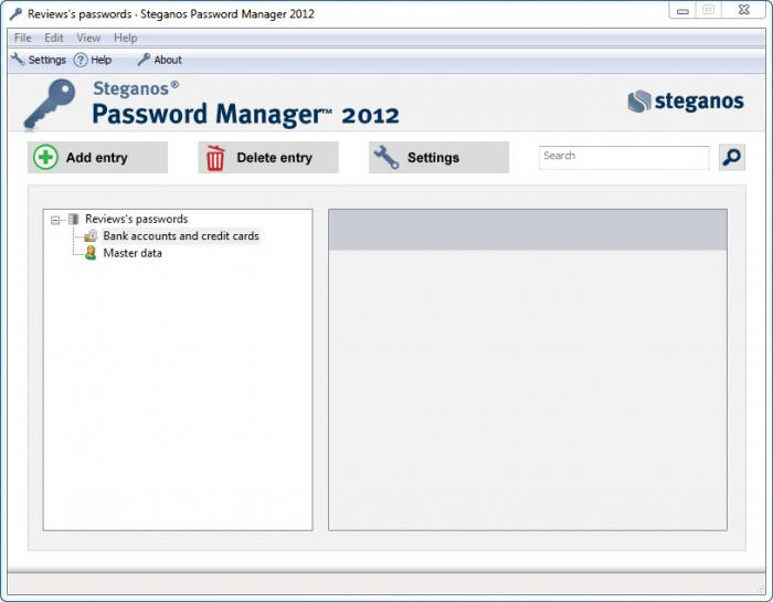 View Steganos Password Manager screenshot
