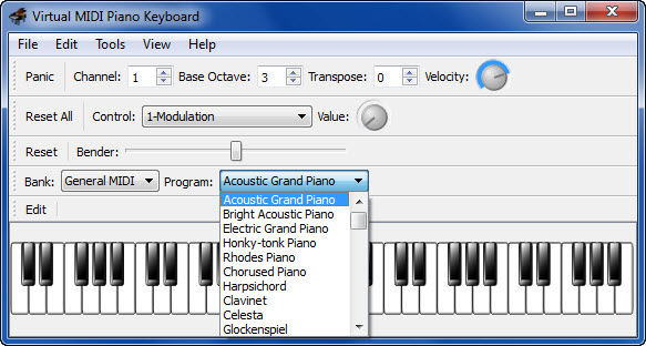 View Virtual MIDI Piano Keyboard screenshot